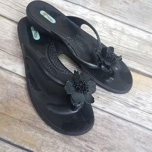 ##Oka b thong sandals black size M/L 8.5-9.5##